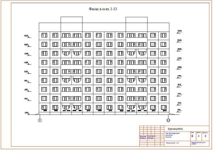 Проект девятиэтажного панельного жилого дома..